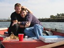 Jamie and Justin On Boat Picnic Timer Pict